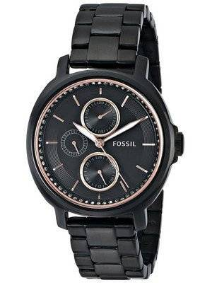 Fossil Chelsey Multifunction Black IP Stainless Steel ES3451 Women's Watch