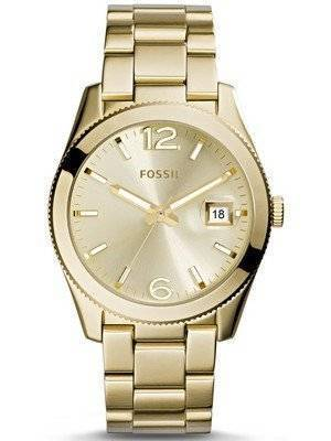 Fossil Perfect Boyfriend Silver Dial Gold Tone ES3586 Women's Watch