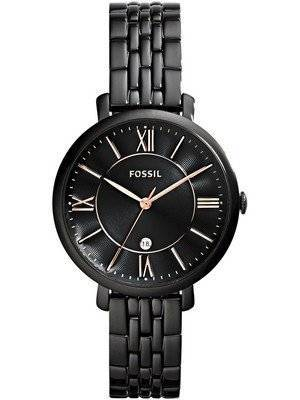 Fossil Jacqueline Quartz Black Dial Black Ion Plated ES3614 Women's Watch
