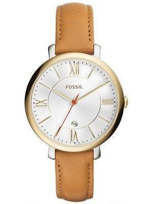 Fossil Jacqueline Silver Dial Date Display ES3737 Women's Watch