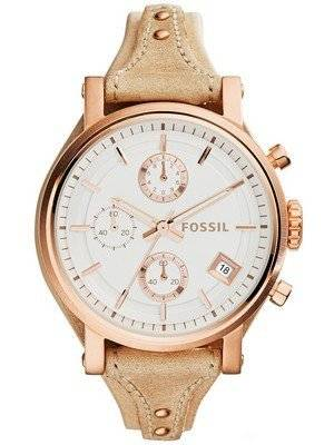 Fossil Original BoyFriend Chronograph White Dial ES3748 Women's Watch