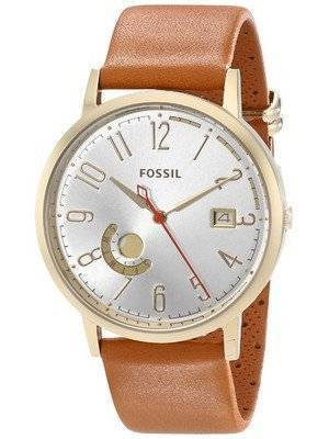 Fossil Vintage Muse Quartz Silver Dial Sand Leather ES3751 Women's Watch