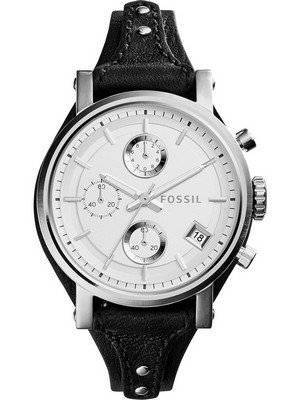 Fossil Original Boyfriend Quartz Chronograph Leather Strap ES3817 Women's Watch