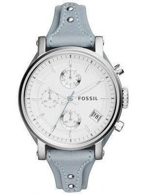 Fossil Original BoyFriend Chronograph White-Silver Dial ES3820 Women's Watch