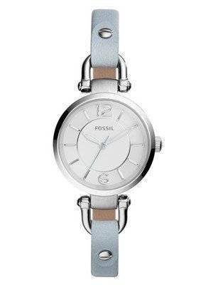 Fossil Georgia Mini Quartz Smokey Blue Leather Strap ES3822 Women's Watch