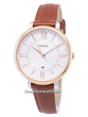 Fossil Jacqueline Silver Dial Brown Leather ES3842 Women's Watch