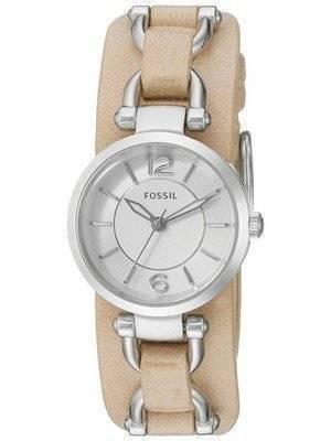 Fossil Georgia Artisan White Dial Sand Leather ES3854 Women's Watch