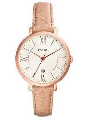 Fossil Jacqueline Leather Strap ES3870SET Women's Watch
