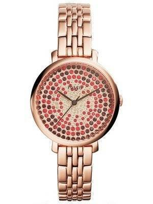 Fossil Jacqueline Rose Gold-Plated Crystals Pave Dial ES3900 Women's Watch