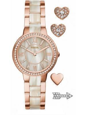 Fossil Virginia Quartz Crystal ES3965SET Women's Watch