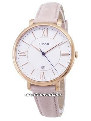 Fossil Jacqueline Quartz Blush Leather Strap ES3988 Women's Watch