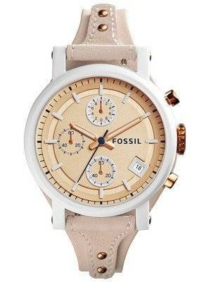Fossil Original Boyfriend Chronograph Quartz Beige Dial ES4005 Women's Watch