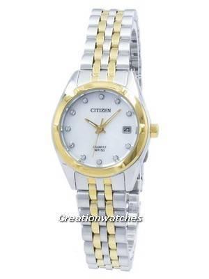 Citizen Analog Quartz Diamond Accent EU6054-58D Women's Watch