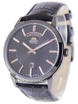 Orient Classic Automatic Black Dial Leather Strap EV0U001B Men's Watch