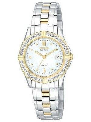 Citizen Women's Two-Tone Eco Miramar Diamond EW1394-54D