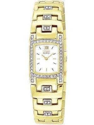 Citizen Ladies Eco-Drive EW8142-59A EW8142 Swarovski Crustal Gold Tone Watch
