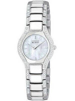 Citizen Women's Eco Silver Normandie Crystal EW9870-72D