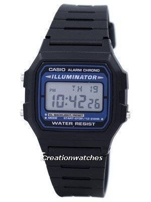 Casio Digital Quartz Alarm Chrono Illuminator F-105W-1ADF F105W-1ADF Men's Watch