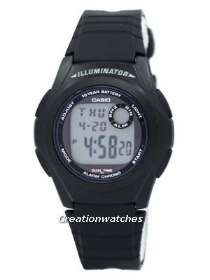 Casio G-Shock Illuminator Dual Time Alarm Chrono F-200W-1A F200W-1A Men's Watch