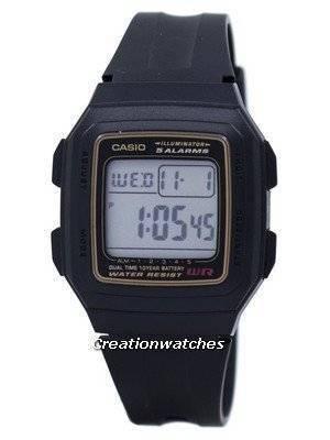 Casio Digital 5 Alarms Dual Time Illuminator F-201WA-9ADF F-201WA-9A Men's Watch