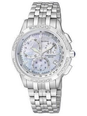 Citizen Eco-Drive Chronograph Genuine Diamonds FB1095-53D FB1095 Women's Watch
