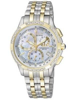 Citizen Eco-drive Chronograph Genuine Diamonds FB1096-51D FB1096 Women's Watch