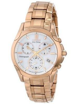 Citizen Eco-Drive Rose Gold Tone Chronograph FB1153-59A Women's Watch