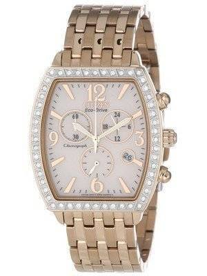 Citizen Eco-Drive Chronograph Swarovski Crystals FB1273-57A Women's Watch