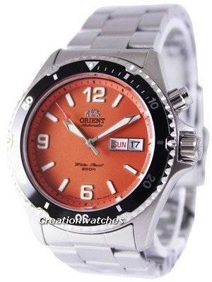 Orient Mako Automatic Diver's Orange Dial FEM65001MV Men's Watch