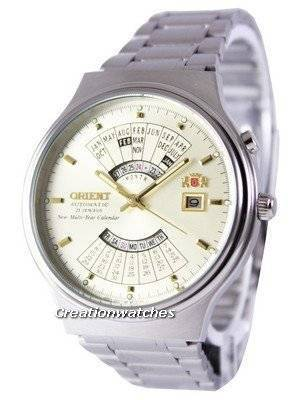 Orient Automatic 21 Jewels Multi Year Calendar FEU00002CW Men's Watch
