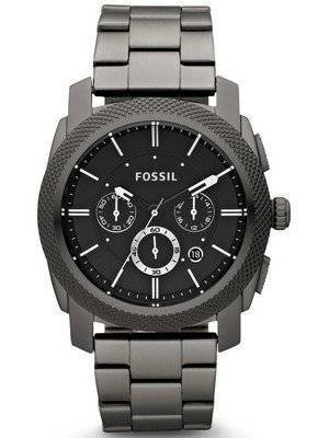 Fossil Machine Chronograph Smoky IP Stainless Steel FS4662 Men's Watch