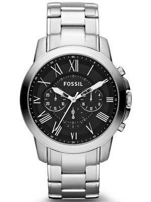 Fossil Grant Chronograph Black Dial FS4736 Men's Watch