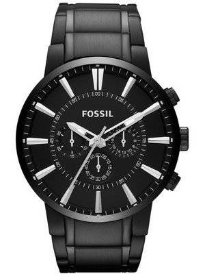 Fossil Townsman Chronograph Black IP Stainless Steel FS4778 Men's Watch