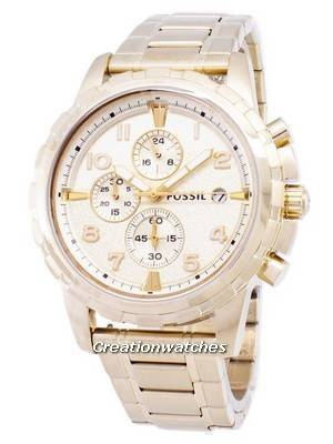 Fossil Dean Chronograph Gold Tone Stainless Steel FS4867 Men's Watch
