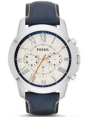 Fossil Grant Chronograph Blue Leather FS4925 Men's Watch
