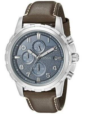 Fossil Dean Chronograph Quartz Dark Brown Leather Strap FS5022 Men's Watch