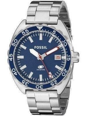 Fossil Breaker Quartz Blue Dial Stainless Steel FS5048 Men's Watch