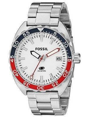 Fossil Quartz Breaker White Dial Stainless Steel FS5049 Men's Watch