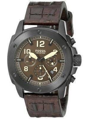 Fossil Modern Machine Chronograph Brown Dial Brown Leather FS5095 Men's Watch
