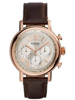Fossil Buchanan Chronograph Champagne Dial Brown Leather FS5103 Men's Watch