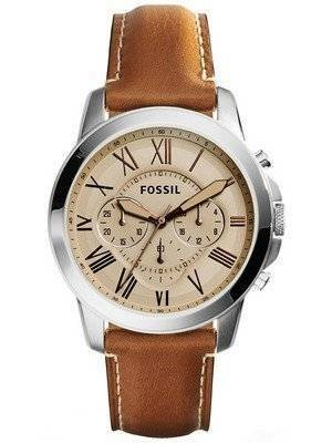 Fossil Grant Chronograph Leather FS5118 Men's Watch
