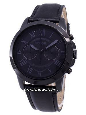 Fossil Grant Chronograph Black Leather FS5132 Men's Watch