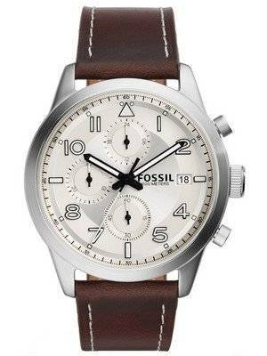 Fossil Daily Chronograph Brown Leather FS5138 Men's Watch