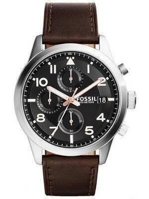 Fossil Daily Chronograph Brown Leather FS5139 Men's Watch
