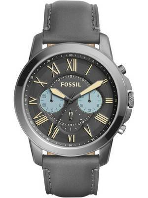 Fossil Grant Chronograph Quartz Gunmetal Dial FS5183 Men's Watch