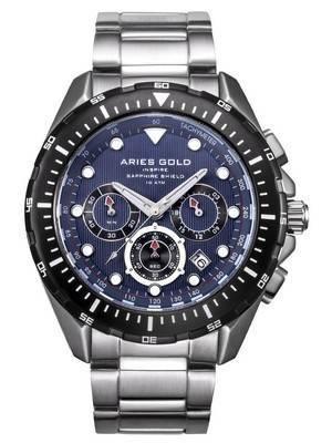 Aries Gold Inspire Atlantic Chronograph Quartz G 7002 SBK-BU Men's Watch