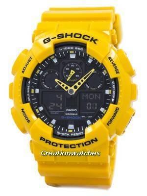 Casio G-Shock GA-100A-9ADR GA-100A-9A GA-100A-9 Velocity Indicator Alarm Men's Watch