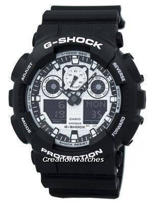 Casio G-Shock White and Black Series Analog Digital GA-100BW-1A Men's Watch