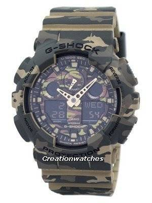 Casio G-Shock Camouflage Series Analog Digital GA-100CM-5A GA100CM-5A Men's Watch