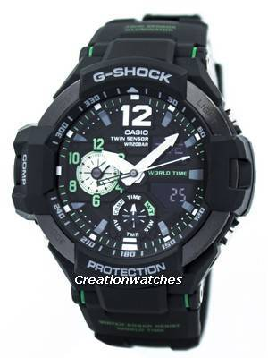 Casio G-Shock GRAVITYMASTER Twin Sensor World Time GA-1100-1A3 Men's Watch